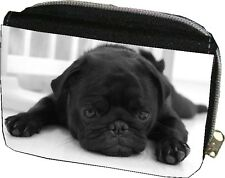 Cute Black Pug Purse Can be Personalised Great Gift for Birthdays / Christmas