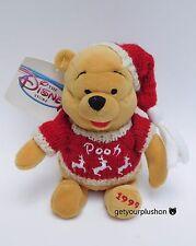 Disney Store 1999 * Winter Sweater Pooh * Christmas Bean Bag Plush