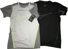 NWT LOT of BOYS NIKE T-Shirts M 10-12 TWO Dri-Fit Shirts never worn black gray