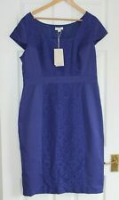 Monsoon ~ Lined Blue Cotton Blend Dress ~ Size 18 ~ NWT