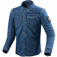 Blousons bleus Rev'it pour motocyclette Homme