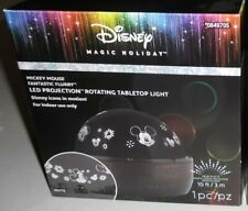 DISNEY MICKEY MOUSE FANTASTIC FLURRY WHITE LED PROJECTION TABLETOP LIGHT NEW!