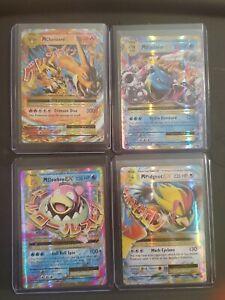 Pokemon XY Evo EX Full Art Lot 4 M Charizard, Blastoise M Pidgeot M Slowbro