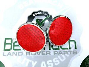 Land Rover Series 1, 2, 3, Rear Round Reflectors, SET, OEM, 551595