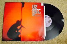 U2 Live Under A Blood Red Sky German Record lp VG+