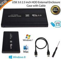"""Thin 2.5"""" inch USB 3.0 SATA HDD Hard Drive Disk External Case Box Enclosure ZH"""