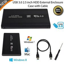 "Thin 2.5"" inch USB 3.0 SATA HDD Hard Drive Disk External Case Box Enclosure MT"