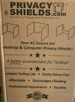 "New -13"" Privacy Shields Dividers - Classroom Student Desk Computer - Case of 20"