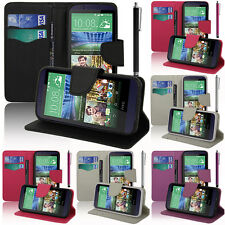 Housse Etui Coque Portefeuille Silicone PU Effet Tissu Gel HTC Desire 510