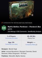 Mythic Battles Pantheon  1.5  Pandora's Box New FREE US Shipping