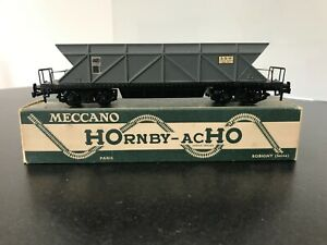 ► WAGON HORNBY ACHO  MECCANO - WAGON HOUILLER A BOGIES  - 729