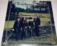 The Gethsemane Quartet To Know Him Vinyl Southern Gospel Record Lp 22G