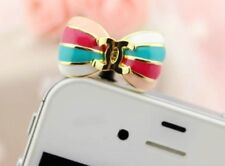 Cute Bow Anti Dust Plug for iPhone4,4s,Galaxys3,s4&3.5mm Earphone Stopper Cap