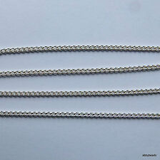 "2 Heavy curb chain necklaces Silver Plated 18"" long 1.5 mm thick chain wire."