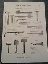 CELLARMEN'S TOOLS Images Copy Print Lumley + Co Minories London #281