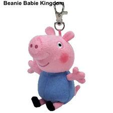 TY BEANIE * GEORGE PIG * FROM PEPPA PIG METAL KEY CLIP - UK EXCLUSIVE