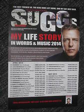 SUGGS (MADNESS) MINI FLYER / POSTER / ADVERT FOR MY LIFE STORY IN WORDS & MUSIC