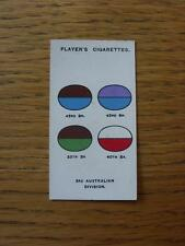 1925 Cigarette Card: Players - Army Corps & Divisional Signs - 132) 3rd Australi