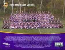 2006 Minnesota Vikings Unsigned Team Photo 8.5x11 SGA