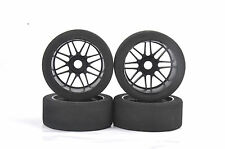 4Pcs 17mm Hex Rally Racing Foam Tires Nylon Wheel Rim For HPI RC 1:8 HSP Car