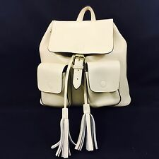 KC JAGGER MORGAN backpack, leather, warm white