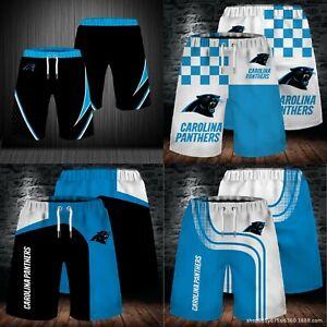 Carolina Panthers Men's Summer Shorts Workout Fitness Casual Short Pants S-5XL