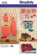 Simplicity SEWING PATTERN 1079 Knitting & Crochet Storage Accessories