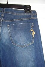 Baby Phat  Distressed Silver Label Denim Straight leg Pants Juniors Size 9