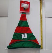 Striped Cristmas Elf Hat Xmas Secret Santa Fancy Dress Festive Party
