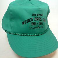 VTG New Farmer Trucker Adjustable Hat Cap Weber Bros Equip Teutopolis IL 1995