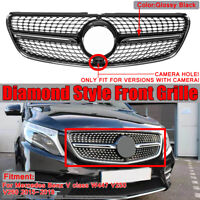 BLACK Diamond Grill Front Grille for Mercedes Benz V class W447 V250 V260