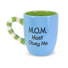 Mom Must Obey Me Blue Mug