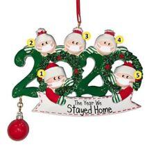 Blank DIY Name Fillable Christmas Tree Ornament 2020 Quarantine Family Xmas Gift
