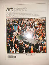 Art Press N°226 Andreas Gursky Szeemann Beaubourg Philip Roth
