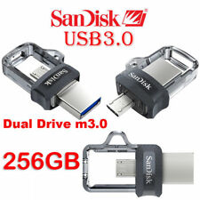NEW SanDisk 256GB M3.0 Ultra OTG micro USB3.0 lot Memory Stick Flash Drive