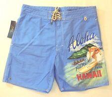 Polo Ralph Lauren Aloha Hawaii Hawaiian Surf Board Surfer Trunks Swim Shorts 32