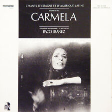 CARMELA PACO IBANEZ Chants D'espagne Et FR Press Moshé-Naim MN 10 008 LP
