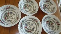 """Kashmir Coupe Cereal Bowls MEAKIN J & G English Staffordshire 5 6.5"""" bowls"""