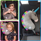 Seat Belt Car Travel Pillow and Plush Animal Toy Head  Neck Support