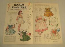 Vintage Vogue Girls Sewing Pattern Paper Doll Uncut 1961 Jack & Jill Magazine