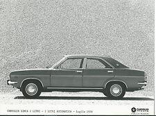CHRYSLER Simca 2 LITRO AUTOMATICA LUGLIO 1978 ORIGINALE FOTOGRAFIA