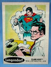 1978 SUPERMAN  DC STICKER #3 ( CLARK KENT ) SUNBEAM TAYSTEE BREAD LANGENDORF