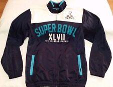 NFL Super Bowl XLVII navy/white track jacket Men sz M 49ers Ravens G-III Apparel
