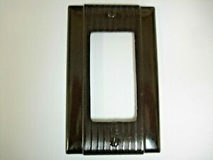 Vintage Uniline Brown Decora GFCI Switch Outlet Cover Plate Bryant / P&S Ribbed