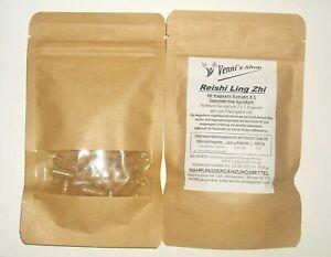 Reishi Ling Zhi 60 Kapseln à 500 mg - Extrakt 4:1.   Made in Germany  vegan