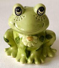 Vintage 70s Josef Original Ceramic Flower Power Frog Toad Potpourri Scent Bottle