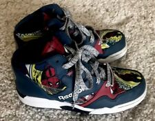 Reebok Spiderman High Top Sneakers Sir Jam Marvel Youth Size 2