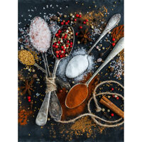 Spoons Spice Seasoning Cooking Canvas Wall Art Print