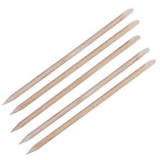 5 Wood Cuticle Nail Pusher Stick Manicure Hoof Manicure  Orange Sticks 11cm