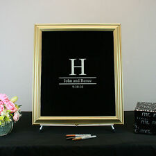 Black Painted Glass Signature Wedding Frame
